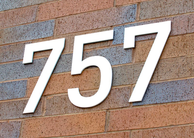 address numbers wall mounted