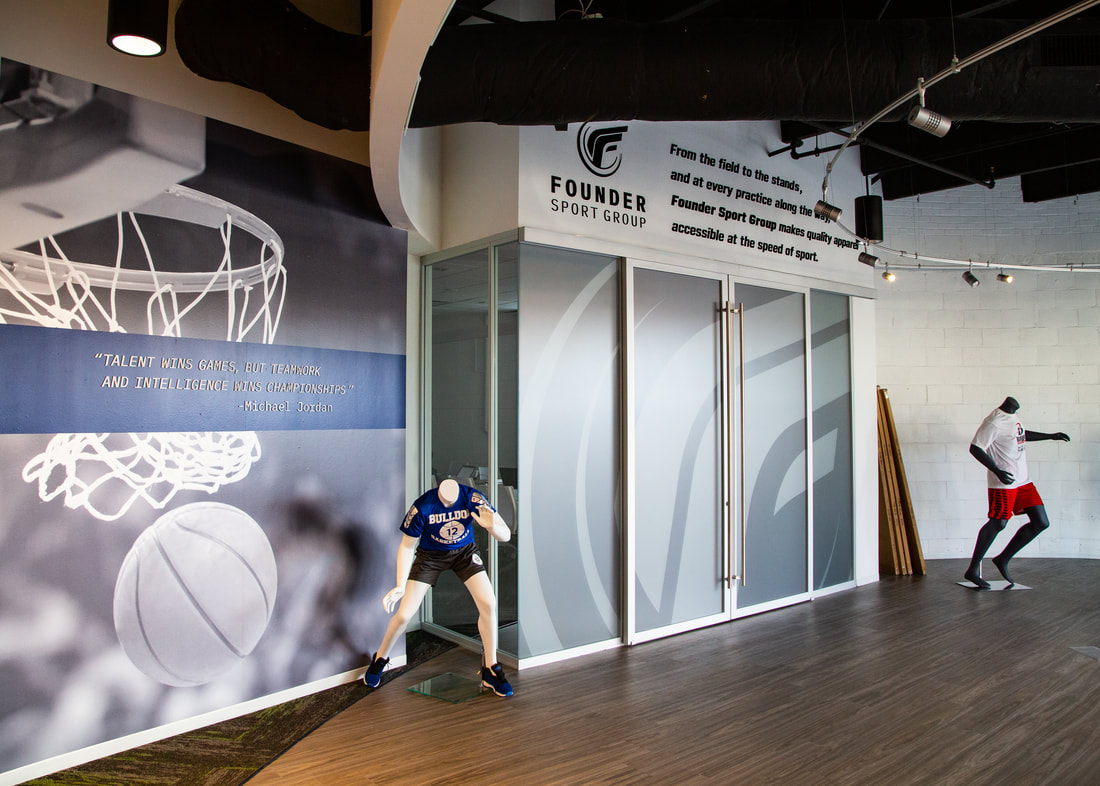 Founder Sport Group wall graphics window graphics