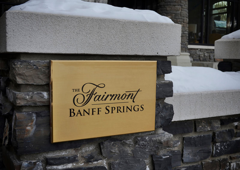The Fairmont Banff Springs wall mounted plaque