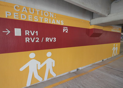 wayfinding wall graphics