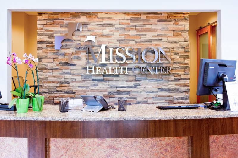 mission health metal logo wall mounted sign