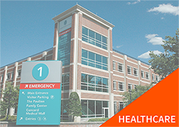 healthcare industry signage wayfinding sign hospital