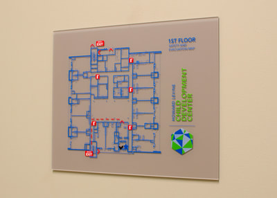 wall mounted code map sign