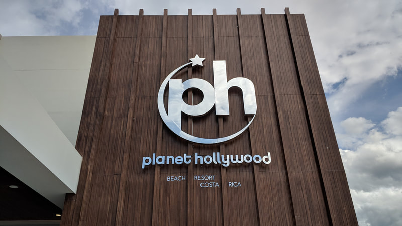 Planet Hollywood costa rica metal wall mounted logo