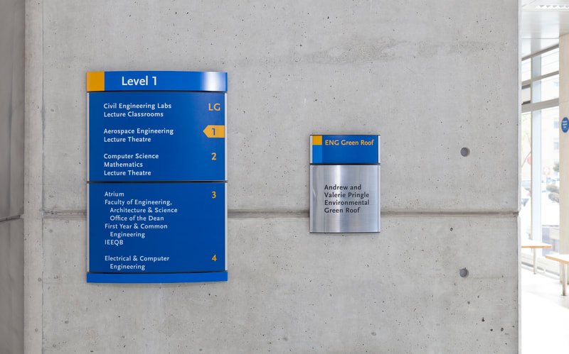 directory and informational signage