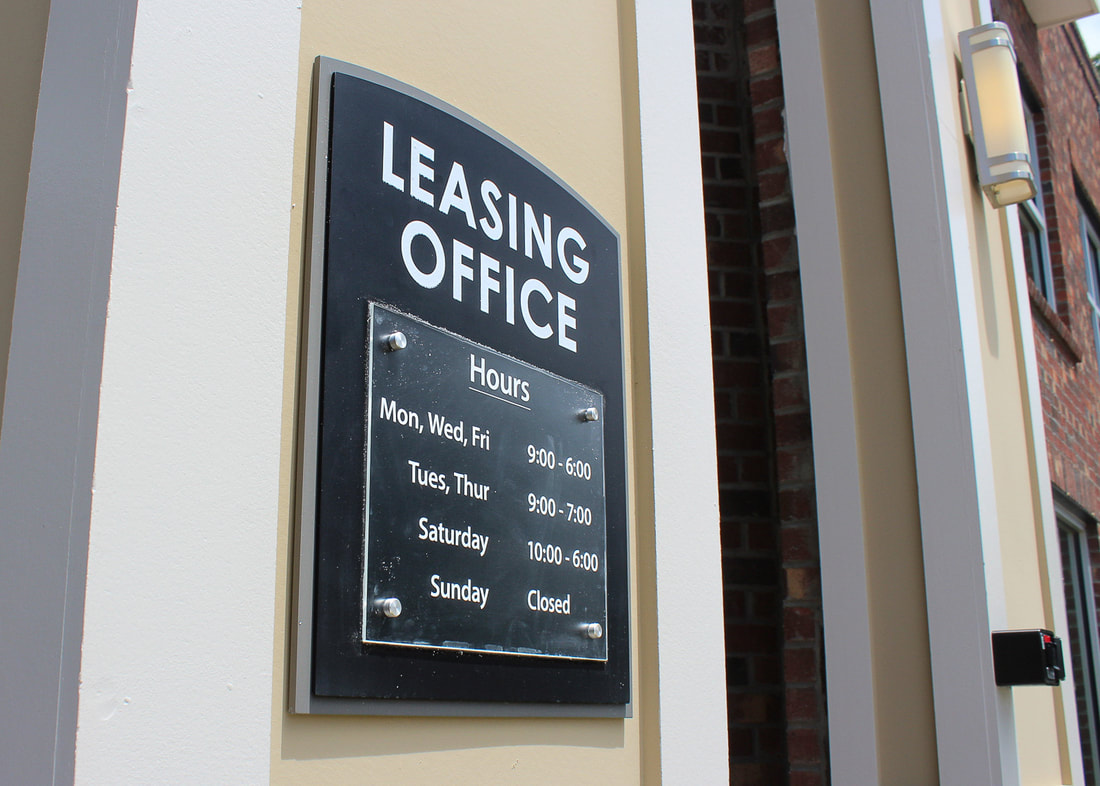 meridian at sutton square leasing office sign