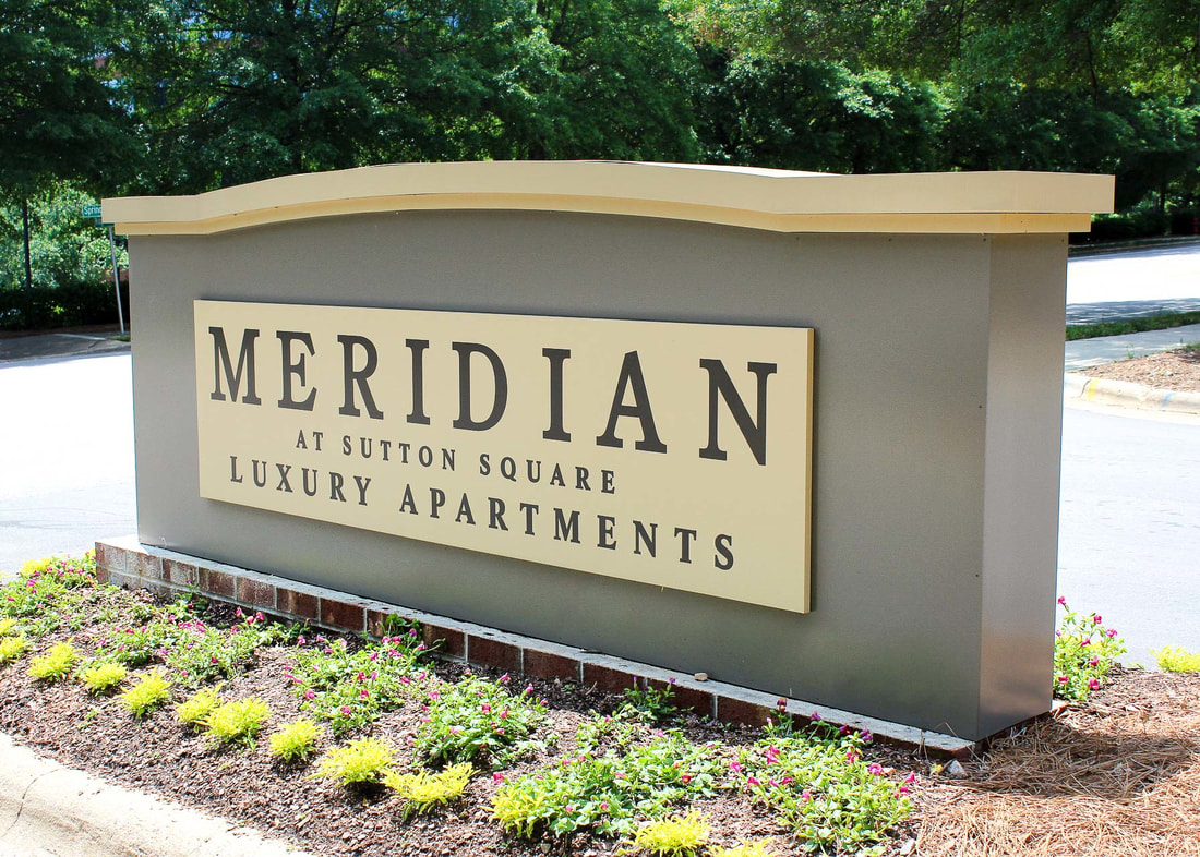 meridian at sutton square apartments monument sign