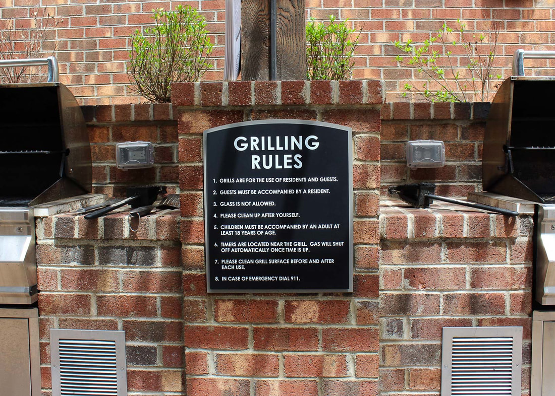 meridian at sutton square grilling rules sign