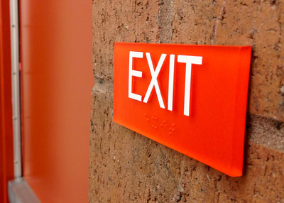 wall mounted code ada exit sign