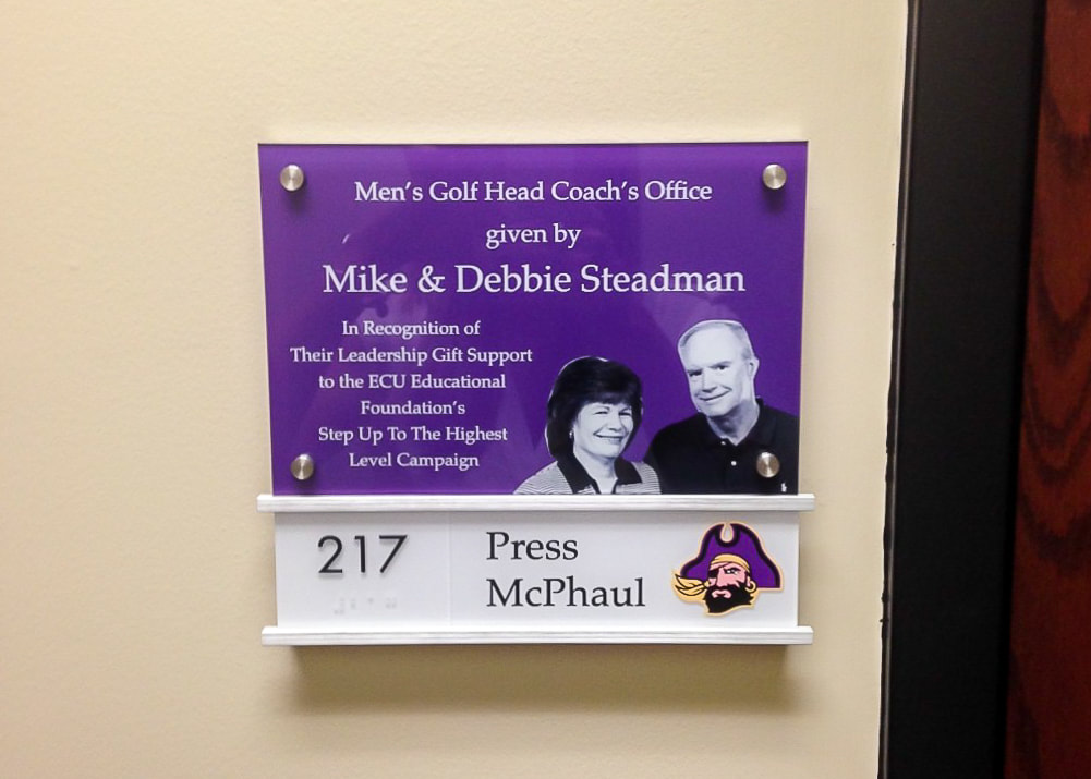 wall mounted ADA signage with standoffs