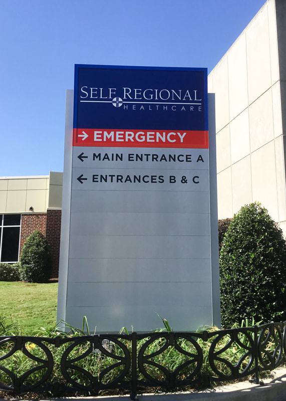 wayfinding hospital monument sign