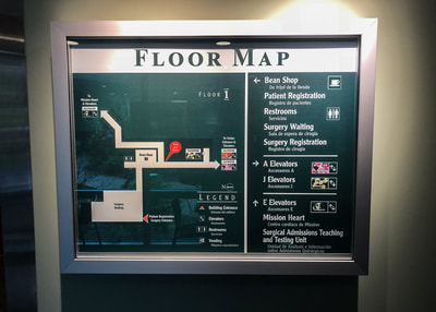 floor map encased sign