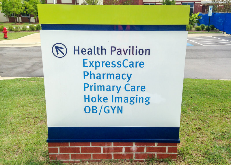 hospital wayfinding monument sign