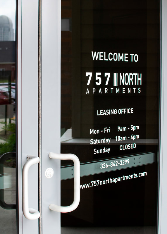 757 north apartments window graphics