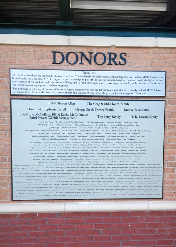 Exterior sports donors sign
