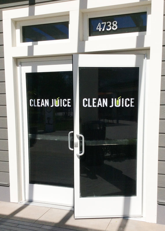 Clean Juice window graphics