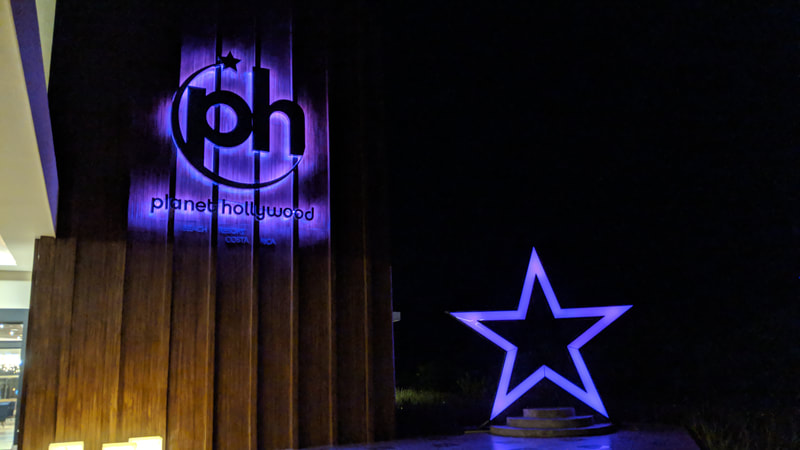 Planet Hollywood Costa Rica reverse illuminated and face illuminated signs
