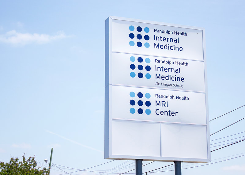 hospital identification directory exterior sign